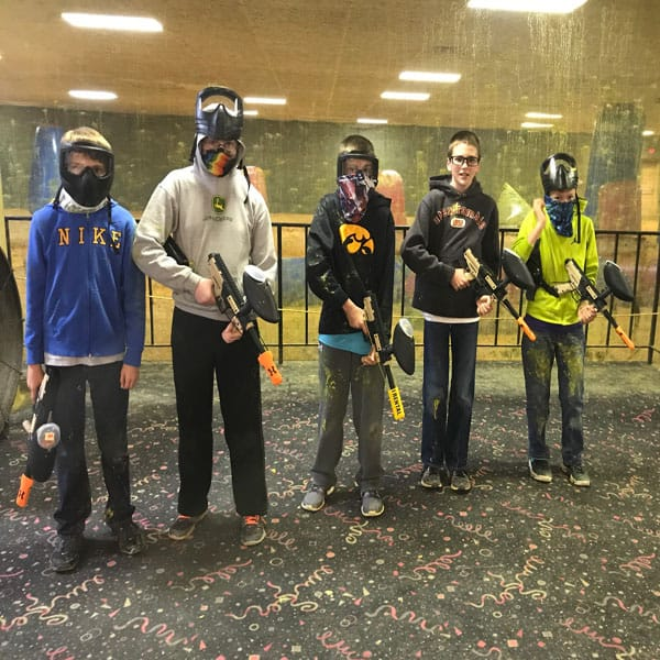 Kids love indoor paintball